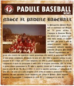 Nasce il Padule Baseball